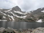 Blue Lake at the base of Mt. Toll.