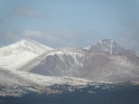 An early closeup shot of Grays & Torreys Peaks
