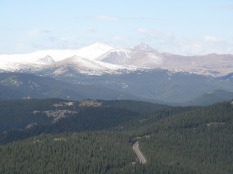 Another look at Grays & Torreys Peaks from further along the trail.