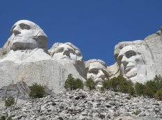 Mt. Rushmore from the Presidential Trail.
