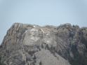 Zoom shot of Mt Rushmore from the Norbeck Scenic Byway