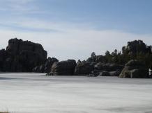 A very frozen Sylvan Lake