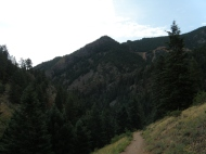 A look back after a few minutes on the trail.