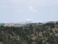 Looking towards the Continental Divide on a hazy day