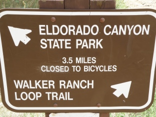 The intersection of Eldorado Canyon Trail & Walker Ranch Loop Trail