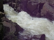 Closeup of the creek, even further up