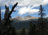 Longs Peak and Mt Meeker from the trail