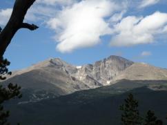 Closer up, Longs Peak(right) Mt Meeker(left)