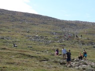 I wasn't kidding about the mass of humanity on this mountain