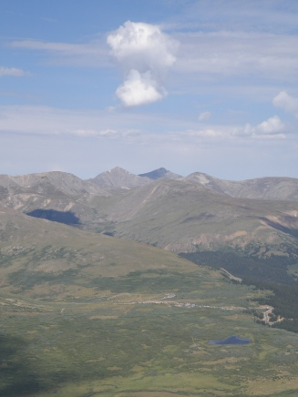 Closeup of Grays and Torreys Peaks, maybe next on the list to tackle.