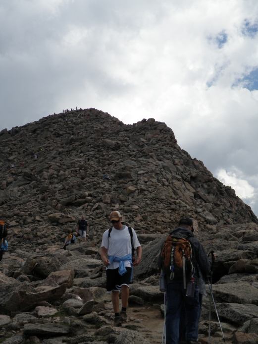 Almost at the summit, dont get too excited just yet. I said almost.