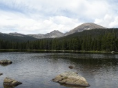 Finch Lake with Copeland Mtn on the right, Elk Toot Mtn on the left