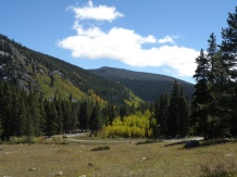 Look back at the Gold Creek campground from the car