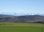 A look towards the San Juan Mountain Range as we're leaving the park.