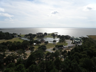 Looking out over the Currituck Sound
