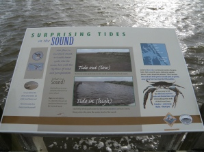 Info on tides and the sound.