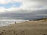 Walking the beach in Nags Head, looking south.