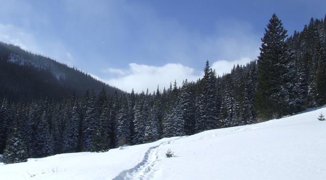 Snowshoeing East Portal Trailhead, Dec 29, 2013…