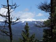 Wheeler Peak, NM's highest peak at 11367 feet seen from the trail