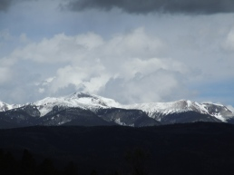 Wheeler Peak as the storms begins to roll in