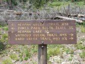 Herman Lake 3.75 miles ahead