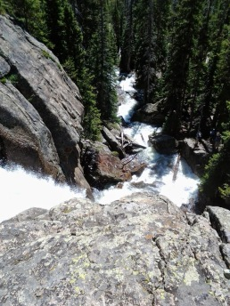 Standing atop Ouzel Falls