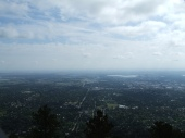 Looking out over the city of Boulder from the summit