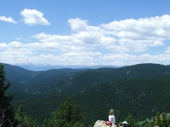 Looking out from Windy Peak summit