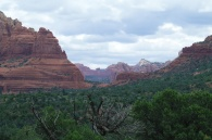 Looking across Sedona