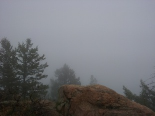 Believe it or not, this is the summit and looking east out there somewhere is the front range