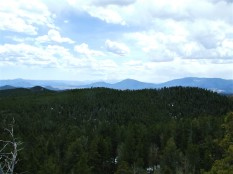 Looking across the park towards Pike's Peak far in the distance