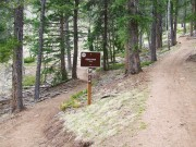 First entry onto Bear Paw trail to the left.