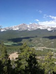 From the trail a look at Meeker & Longs Peak.