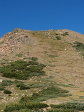 You next challenge once above treeline, look close you can see the switchbacks